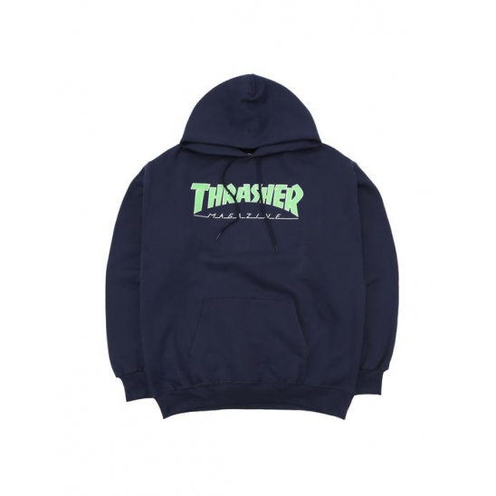 OUTLINED HOOD - NAVY