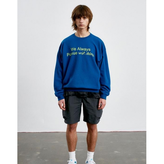 SLOGAN LOGO SWEATSHIRT blue