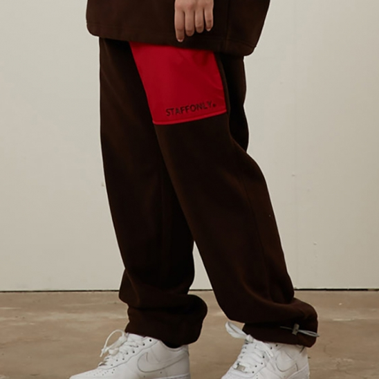 FLEECE PANTS(BROWN)