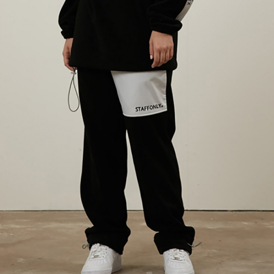 FLEECE PANTS(BLACK)