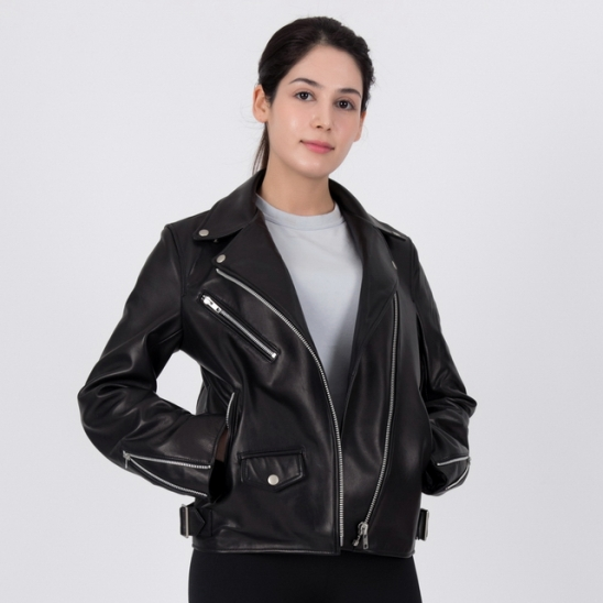 OVERSIZED LAMBSKIN RIDERs JACKET (BLACK)