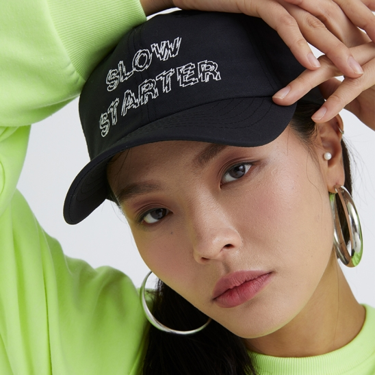 OUTLINE SLOW STARTER BALLCAP BLACK