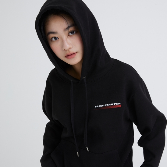 SLOW STARTER HOODY BLACK