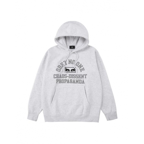 OBEY NO ONE EYES HOOD ASH GREY