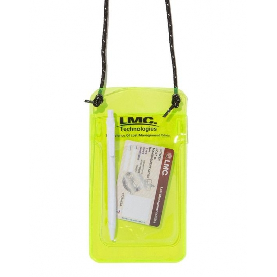 LMC PVC POCKET PROTECTOR POUCH lime