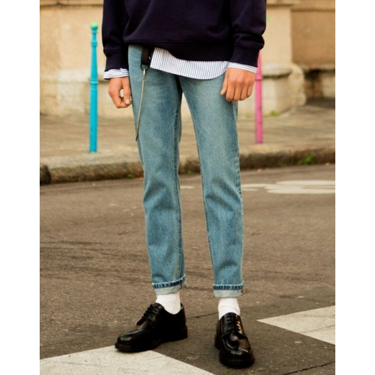 TONY SLIM TAPERED JEANS (BLUE)
