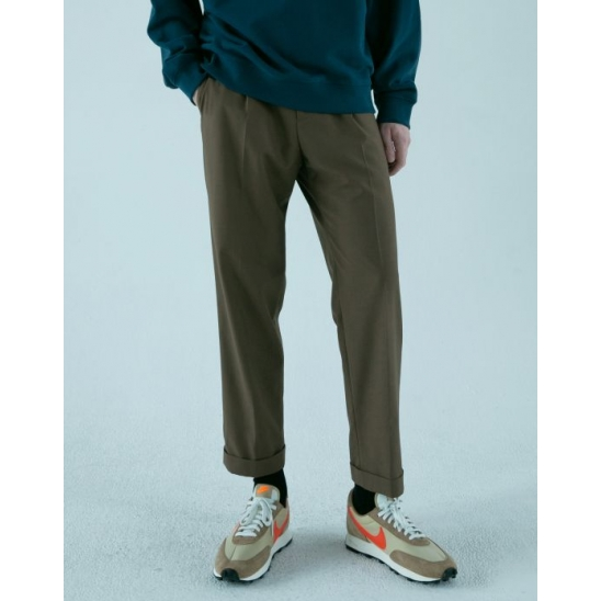DERICK SLIM CROPPED PANTS (BROWN)