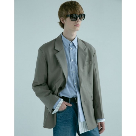[최지우/블락비 박경 착용] UNISEX TAYLOR OVERSIZED WOOL JACKET (BROWN)
