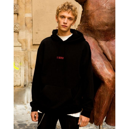 UNISEX IDEALISTE PHOTO PRINTED HOODIE (BLACK)