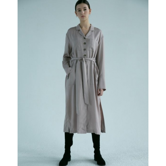 RENI BUTTONED ROBE DRESS (PALE PINK)
