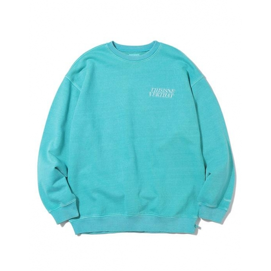 ACE Logo Overdyed Crewneck Blue Green