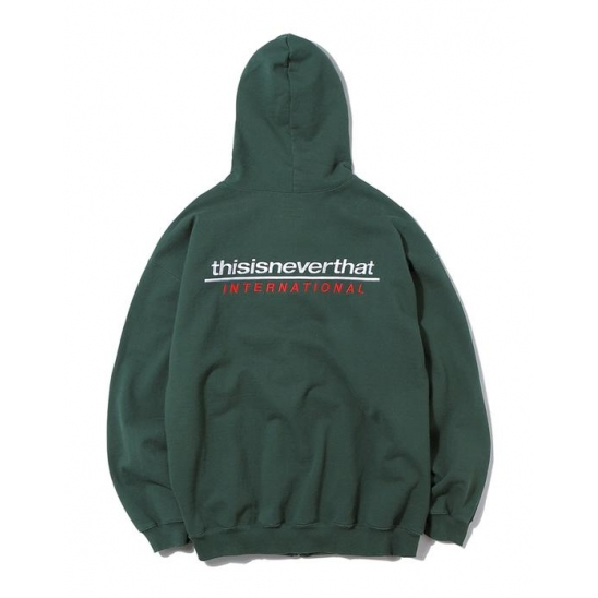 SP-INTL. Logo ZIPUP Sweat Forest