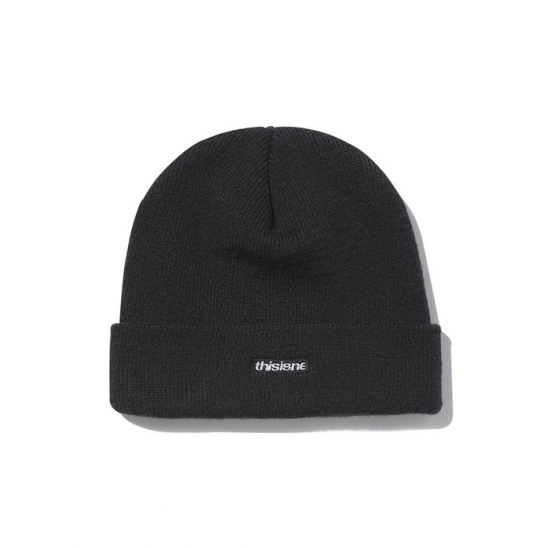 HSP Short Beanie Black