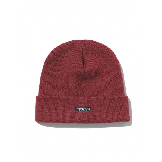 HSP Short Beanie Brick Red