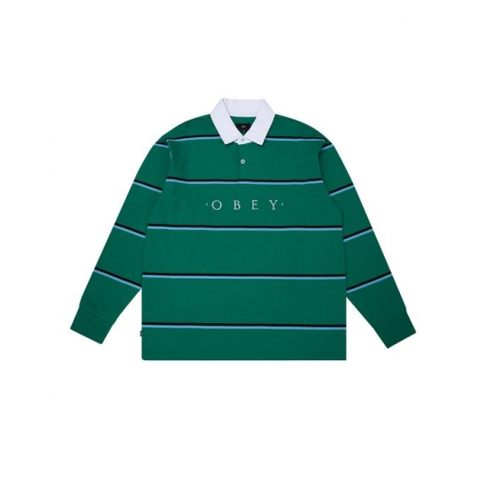 WASHER CLASSIC POLO LS GROWTH GREEN MULTI