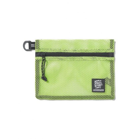 Mesh Flat Pouch Lime