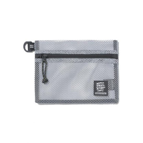 Mesh Flat Pouch Light Grey