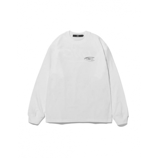 LMC 3D LOGO LONG SLV TEE white