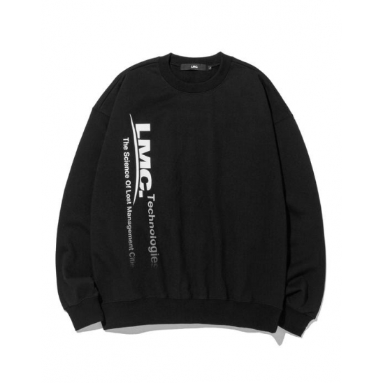 LMC TECH FADEOUT OVERSIZED SWEATSHIRT black