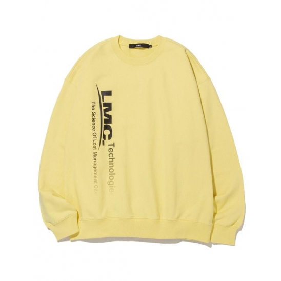 LMC TECH FADEOUT OVERSIZED SWEATSHIRT pastel yellow