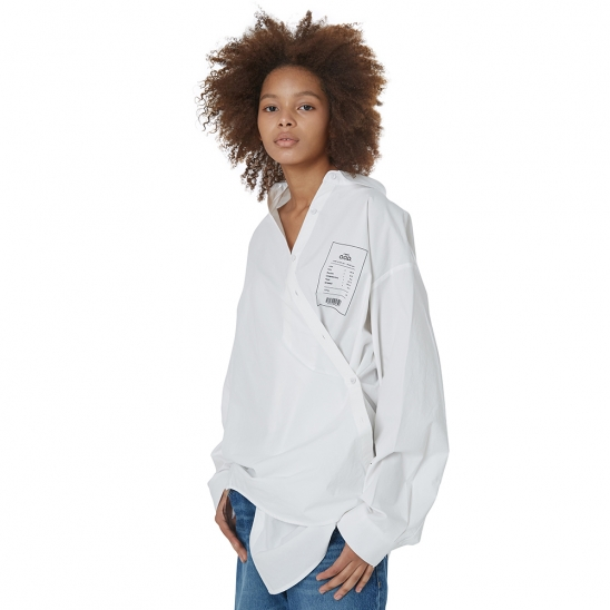 WOMEN_COMFY DAILY OVER SHIRT (IVORY)