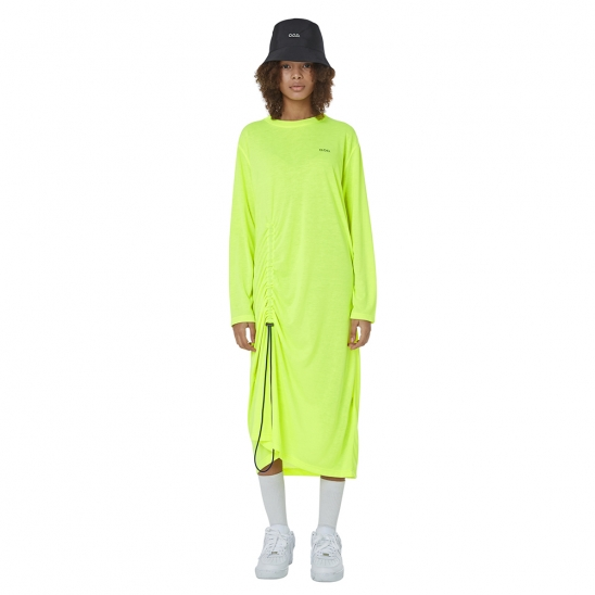 SHIRRING MOOD STRING ONE-PIECE (NEON YELLOW)
