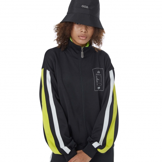 WOMEN_COMFORTABLE TRACK JACKET (BLACK)