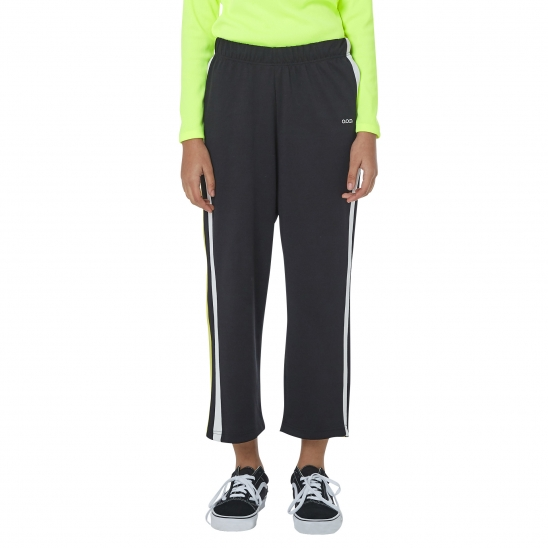 WOMEN_COMFORTABLE TRACK WIDE PANTS (BLACK)