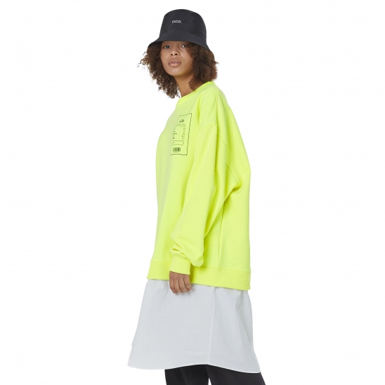 WOMEN_SHIRT-LAYERD OVER MTM (NEON YELLOW)