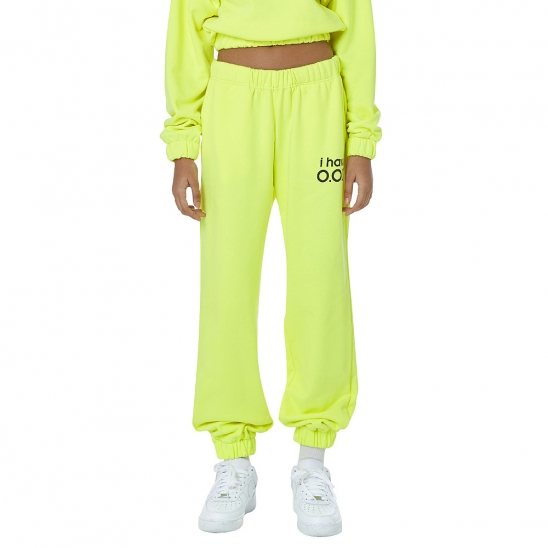 WOMEN_I HAVE OOD SWEATPANTS (NEON YELLOW)