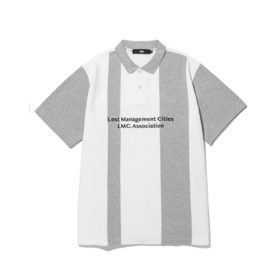 LMC DIVIDED PK POLO SHIRT gray
