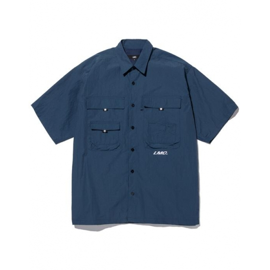 LMC SHORT SLV FISHING SHIRT dk teal