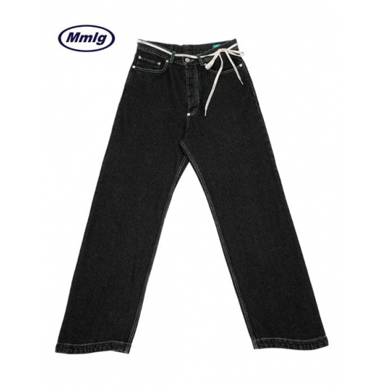 [MMLG] WAVE RELAX JEANS (ALMOST BLACK)