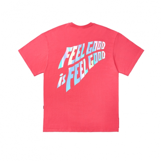 HOLOGRAM OVERSIZED T-SHIRTS PINK
