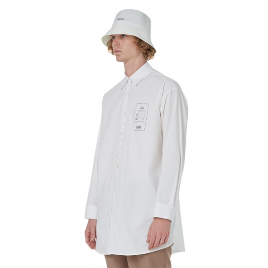 MEN_COMFY DAILY OVER SHIRT (IVORY)