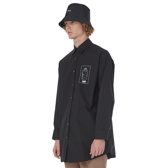 MEN_COMFY DAILY OVER SHIRT (BLACK)