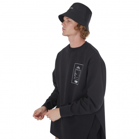 MEN_VELCRO DETAIL LONG SLV T (BLACK)