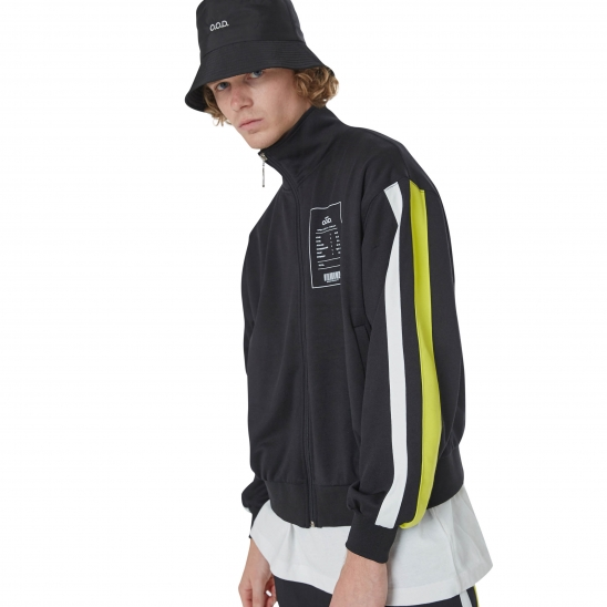 MEN_COMFORTABLE TRACK JACKET (BLACK)