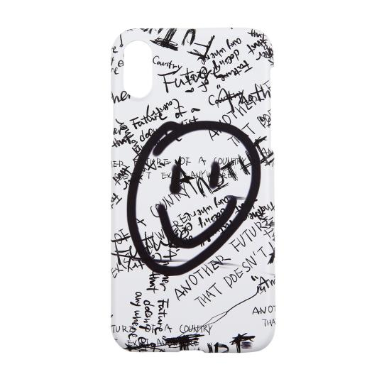 SMILE GRAFFITI IPHONE CASE (WHITE)
