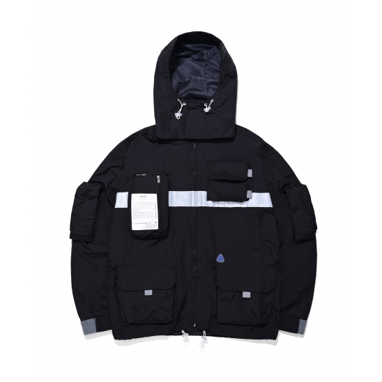 9 Pocket Smock Jacket (black)