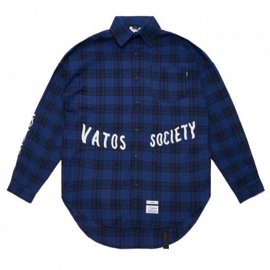 MUSK OVERSIZED CHECK SHIRTS BLUE