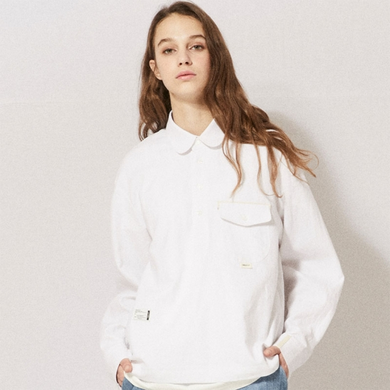 CL074_UBDTY Pullover Linen Shirts_White