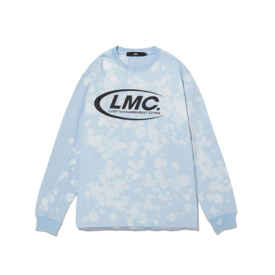 LMC CO BLEACH LONG SLV TEE sky blue