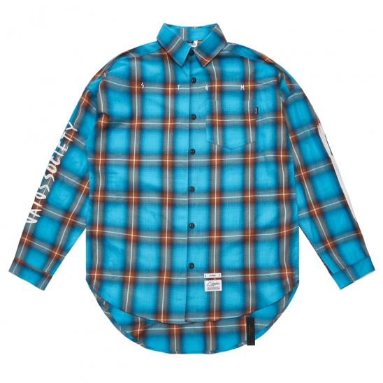 HALLUCINATION OVERSIZED CHECK SHIRTS BLUE