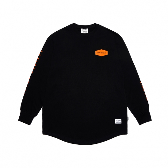 EMBLEM LAYERED LONG SLEEVES T-SHIRTS BLACK