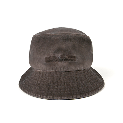 Washed Bucket Hat (HAND MADE) - BROWN