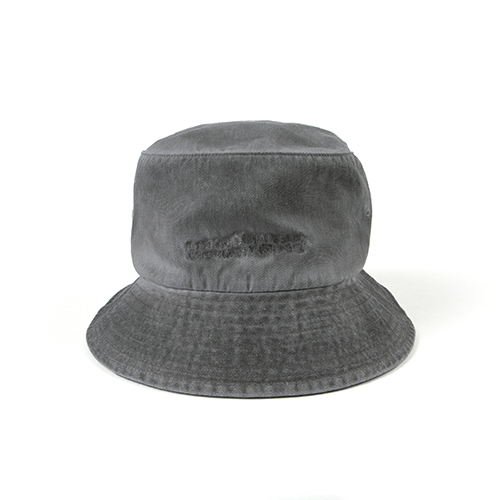 Washed Bucket Hat (HAND MADE) - GREY
