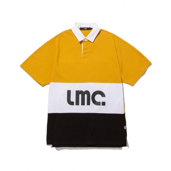 LMC SHORT SLV RUGBY SHIRT yellow