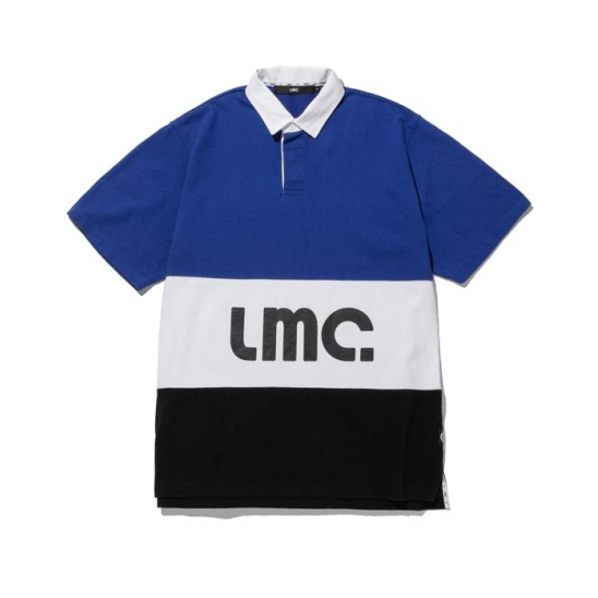 LMC SHORT SLV RUGBY SHIRT blue