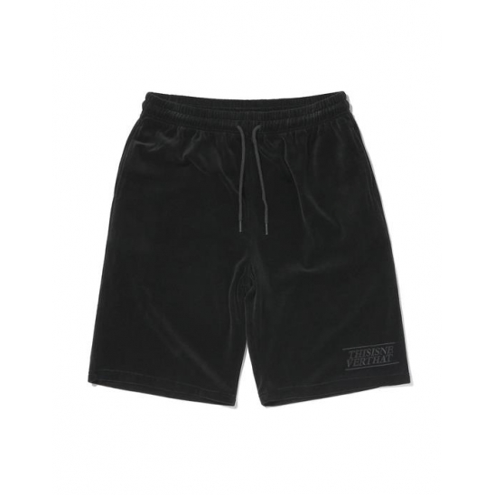 Velour Short Black